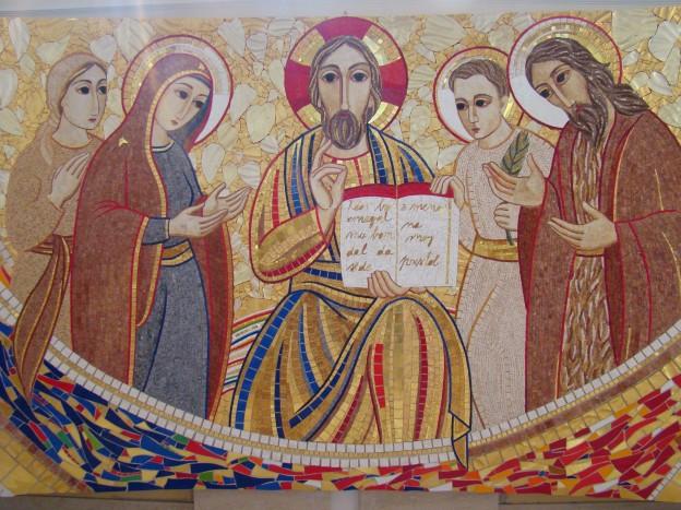 Mozaik, ki ga je izdelal p. Rupnik